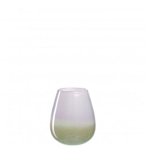 Свещник/ваза 25см Casolare бяло/беж