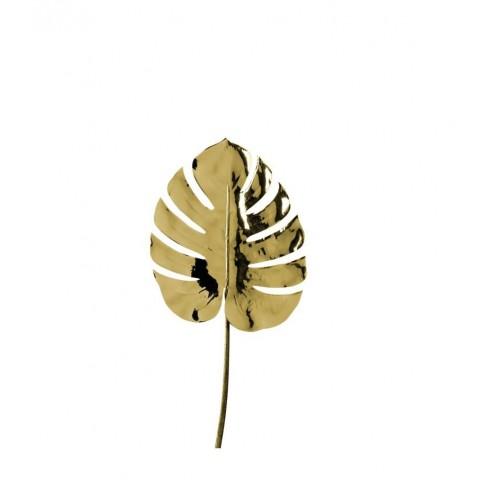 Изкуствено листо 64см Fiore златисто