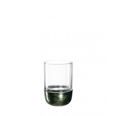 Свещник/ваза с метална основа 20см Foresta зелен