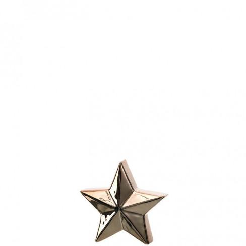 Керамична фигура звезда 12см Velluto златиста