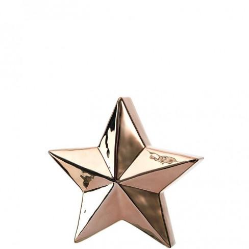 Керамична фигура звезда 21см Velluto златиста