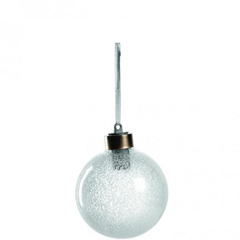 Топка за елха 8см снежна топка с Led