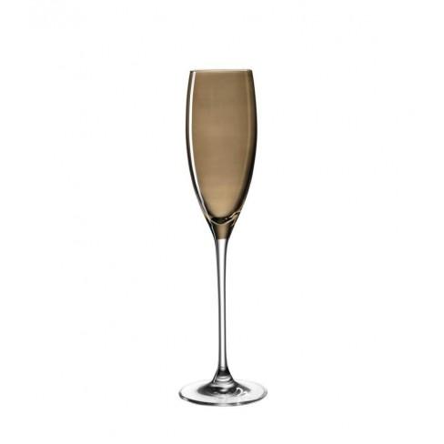 Чаша за шампанско 220мл Lucente кафява