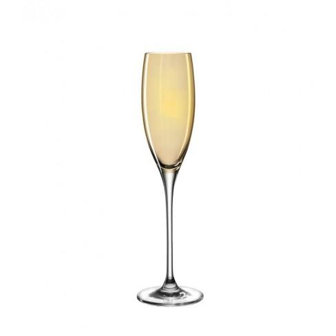 Чаша за шампанско 220мл Lucente оранж