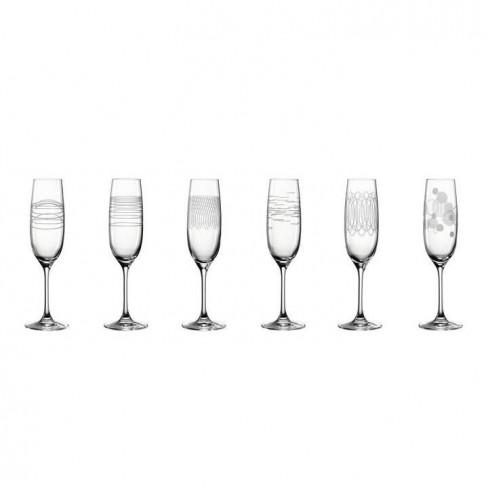Кт/6 чаши за шампанско 190мл Casella