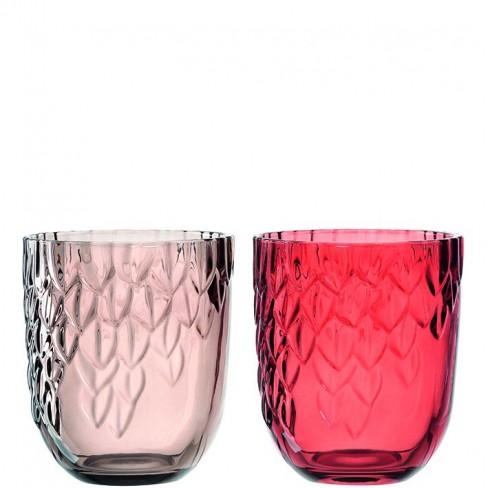 Свещник/ваза Castagna 13x11см червен/кафяв