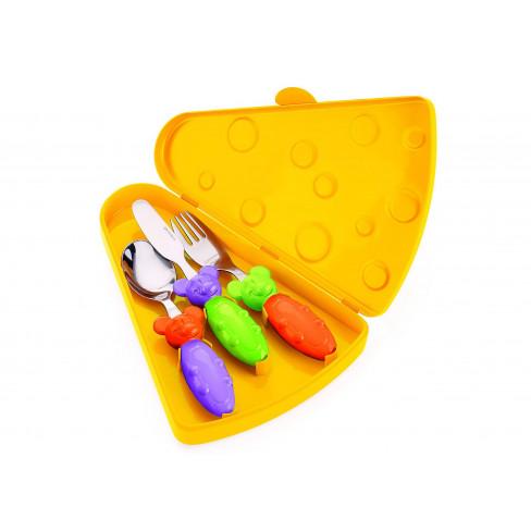 Кт детски прибори за хранене в кутия Bimbi