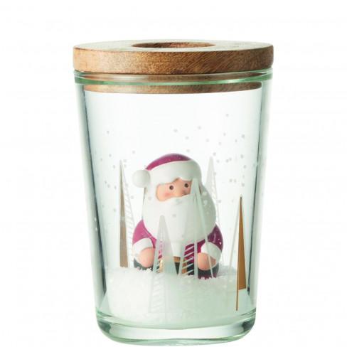 Ваза/свещник с Дядо Коледа 17см Clause Festivo