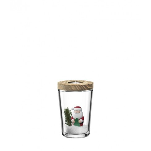 Деко сет свещник/ваза с Дядо Коледа 16.7см Clause