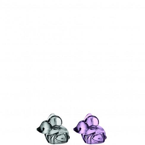 Стъклена фигура мишка 7см Gonzales Legno два цвята