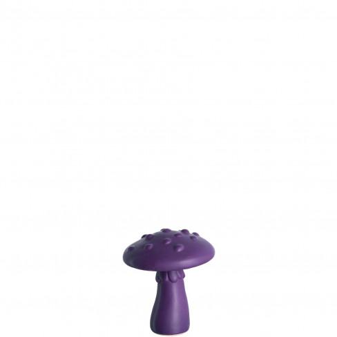 Керамична фигура гъба 8см Funghi Legno лила