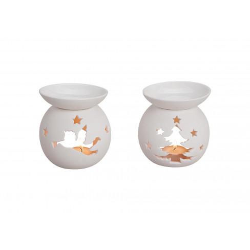 Порцеланова арома лампа 12см бяла два вида