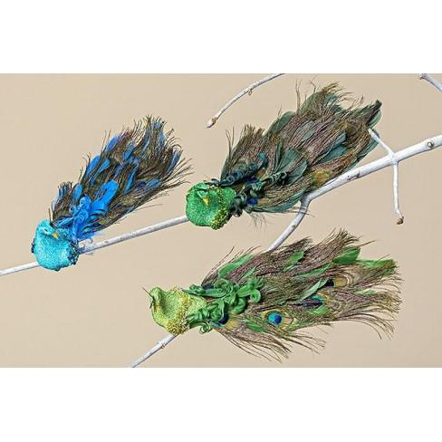 Фигура паун на клипс 25см Peacock три вида