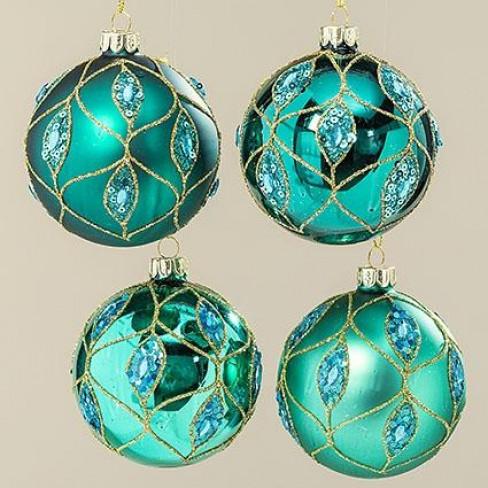 Стъклена топка за елха 8см Galena четири вида