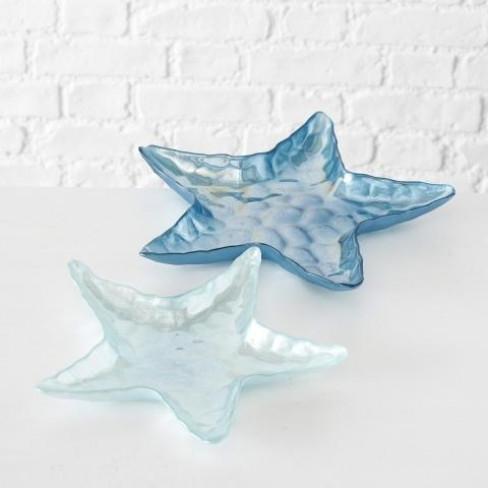 Плато морска звезда 28см синьо малко