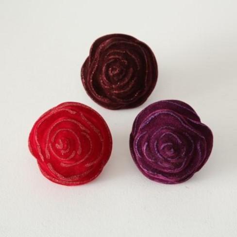 Фигура роза на клипс 7.5см Velvet лила три цвята