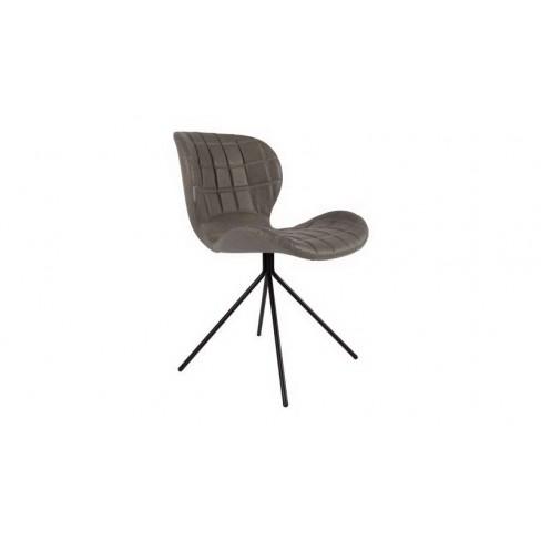 Стол 80см сив изкуствена кожа с метални крака