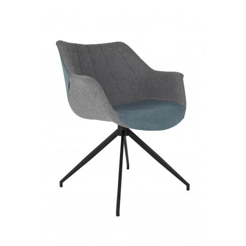 Стол Doulton 80см сиво/синьо