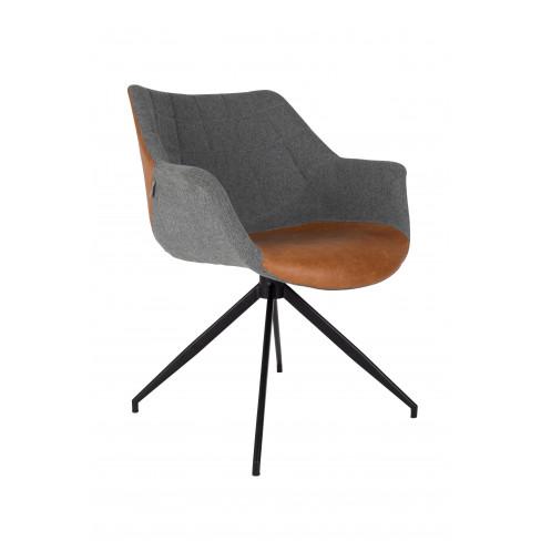 Стол Doulton 80см сиво/кафяво