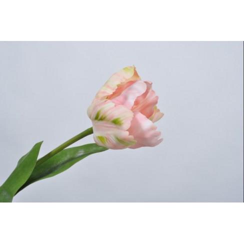 Изкуствено цвете лале 62см светло розово