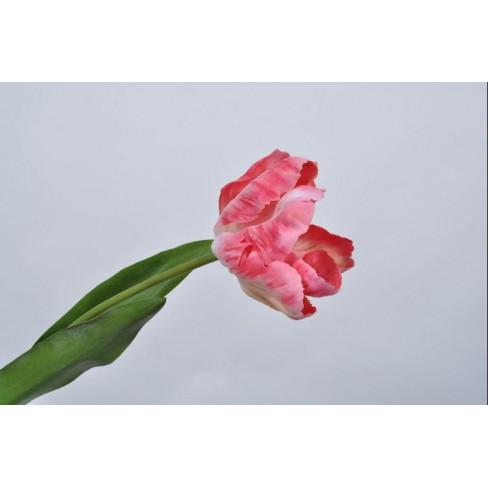 Изкуствено цвете лале 62см розово