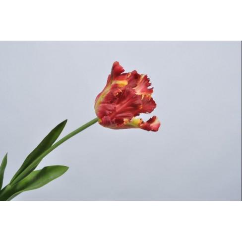 Изкуствено цвете лале 68см червено