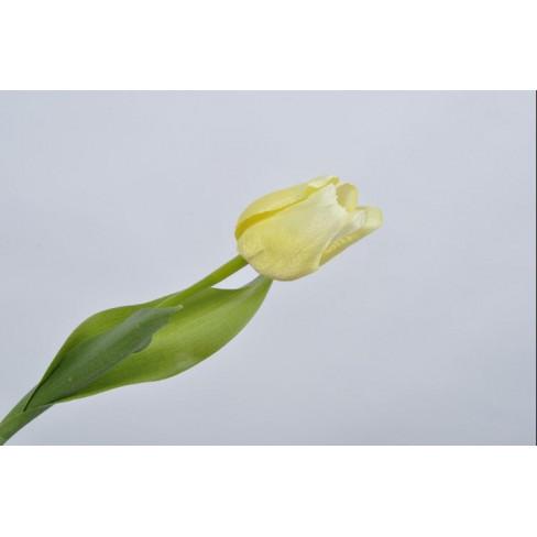 Изкуствено цвете лале 36см жълт