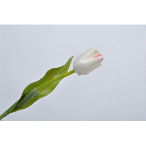 Изкуствено цвете лале 36см бяло