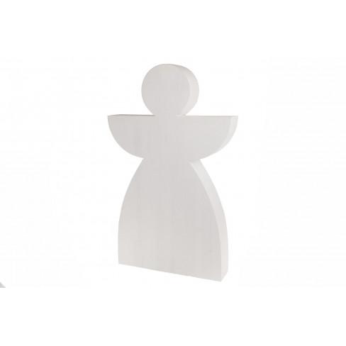 Фигура бял ангел стоящ 80см