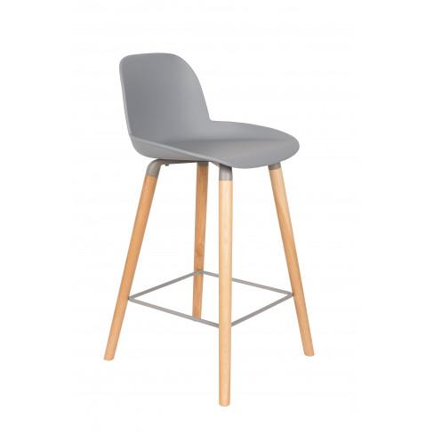 Висок стол Albert Kuip 89см сив