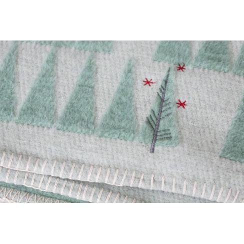 Одеяло Deco елхички светло зелено 130x200см