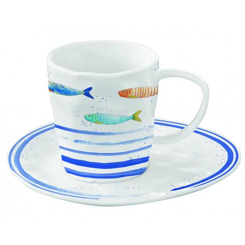 Чаша 250мл с чинийка Bord De Mer