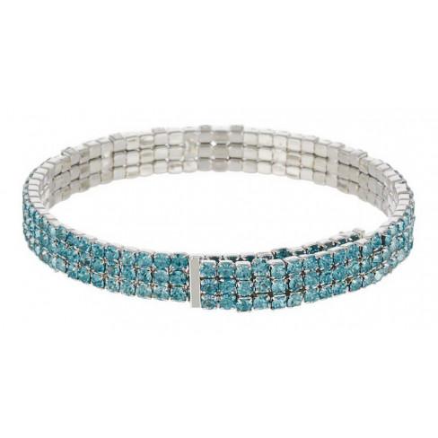 Гривна Estate със сини стъклени камъни