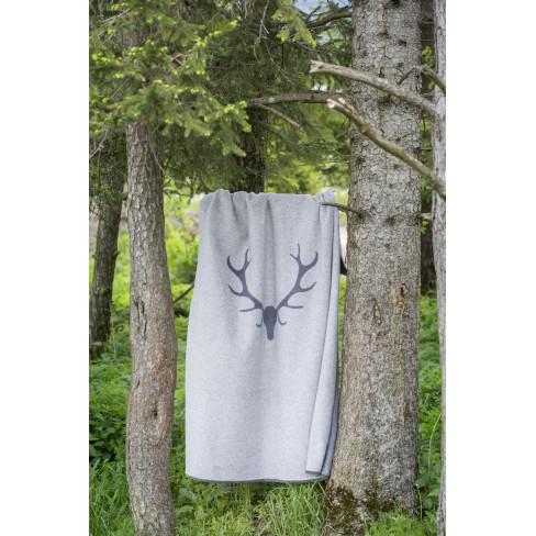 Одеяло Montana Antlers еленови рога сиво 150x200см