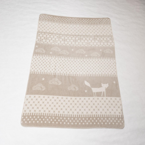 Детско одеяло Panda лисица бежово 100x150см