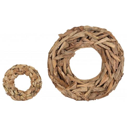 Венец дървени пънчета 7x25см Timba голям