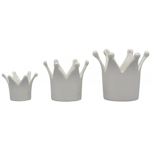 Керамична фигура корона 12х11см Pearl