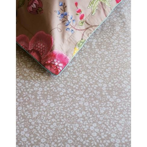 Долен чаршаф 90х200 на цветя беж Lovely Pip Studio