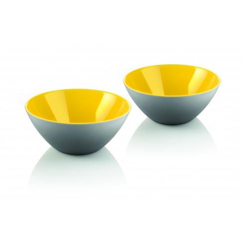 Кт/2 купички My Fusion 12см жълто-сиво
