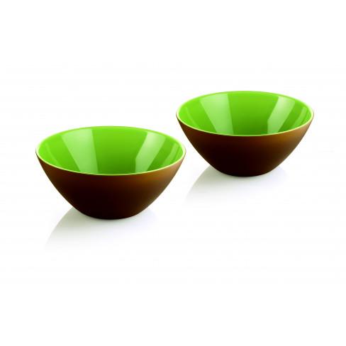 Кт/2 купички My Fusion 12см зелено-кафяво