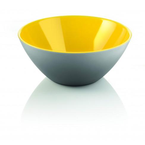 Двуцветна купа 20см жълто-сива Fusion