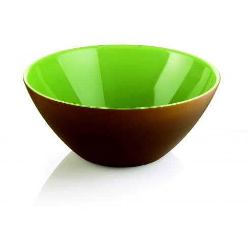 Двуцветна купа 20см зелено-кафява Fusion