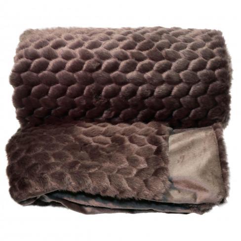 Одеяло 130х160см Kimmie тъмно кафяво