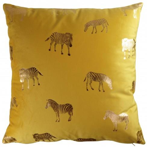 Възглавница 45х45см Zebra жълта