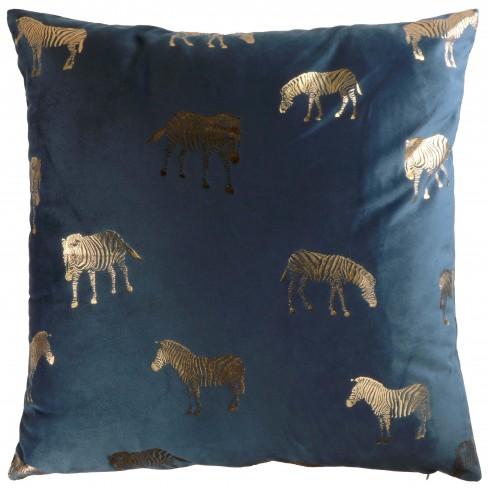 Възглавница 45х45см Zebra тъмно синя