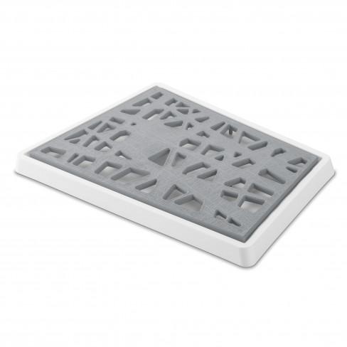 Дъска за рязане на хляб Matrix бяло/сиво