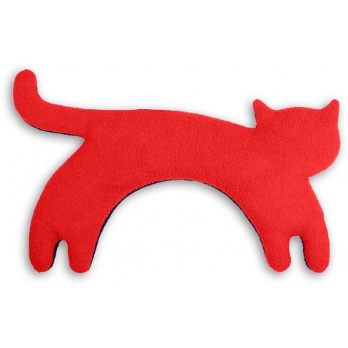 Загряваща възглавничка за врат Minina The Cat червена