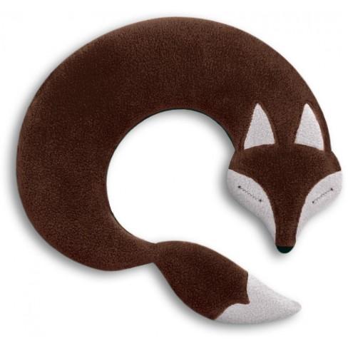 Загряваща възглавничка за врат Noah The Fox кафява