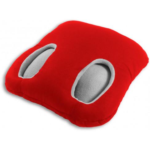 Загряваща възглавница за крака 32x32см червена
