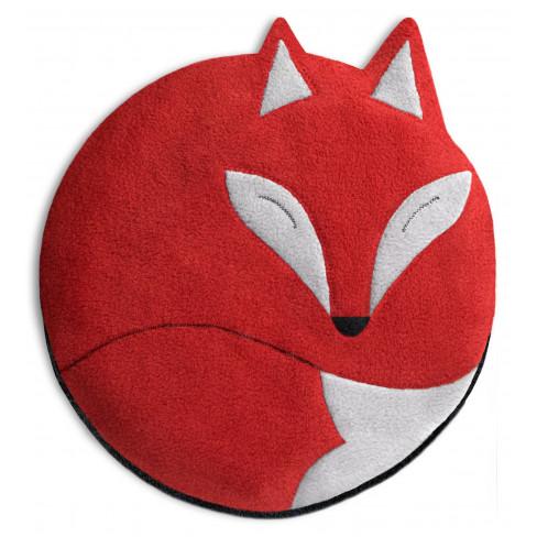 Кръгла загряваща възглавничка Luca The Fox червена